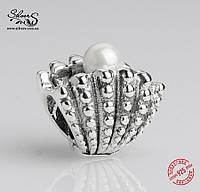 """Серебряная подвеска-шарм Пандора (Pandora) """"Жемчужница"""" для браслета"""