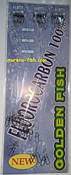 Рибальські повідці Golden Fish Fluorocarbon 100% (24шт) флюрокарбон 0,43 мм