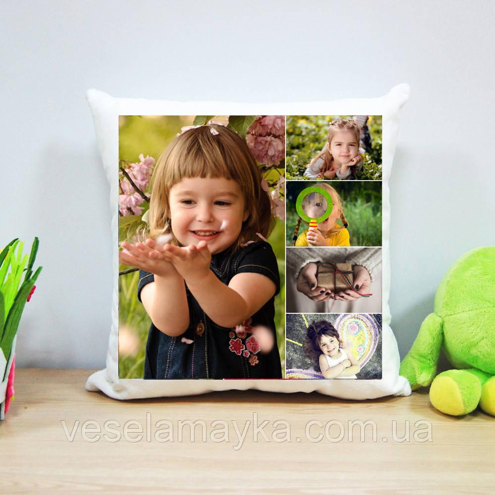 Плюшева подушка з печаткою на 5 фото