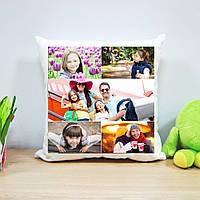 Плюшевая подушка с печатью на 5 фото (вариант 2)