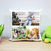 Плюшевая подушка с печатью на 3 фото