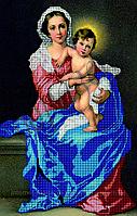 Схема для вышивки бисером Мадонна с младенцем КМИ 2002