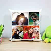 Плюшевая подушка с печатью на 4 фото