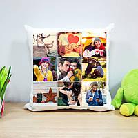 Плюшевая подушка с печатью на 9 фото