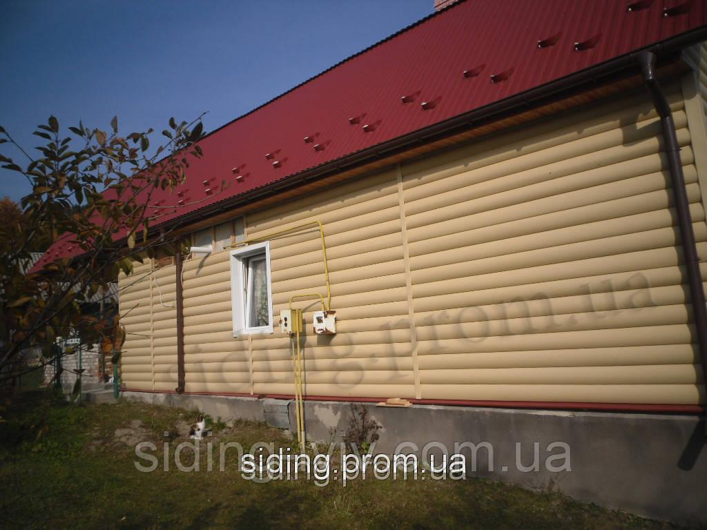 Сайдинг Блок-Хаус золотий