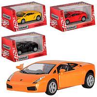 "Машина метал. ""Kinsmart"" ""Lamborghini Gallardo"" в кор. 16*8,5*7,5см (96шт/4)"