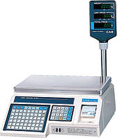 Торговые весы с печатью этикетки Cas  LP-R 1.6 со стойкой 30 кг