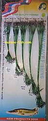 Рибальські повідці Spining Leader 100шт Metall Green зелені