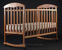 Детская кроватка Наталка Светлая (Ясень) на дуге.