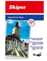 Фотобумага матовая А4, плотность 128 г/м2, 100 листов, Skiper