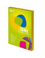 Бумага цв. А4 Uni Color Neon Mix  200л/4цв.