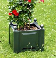 Цветочный кашпо квадратный зеленый