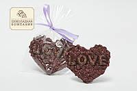 Шоколадное сердце LOVE