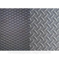 Лист рифленый нержавеющий AISI 304 1,0 (1,0х2,0) 2В листы нж нержавеющая сталь нержавейка цена