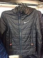 Мужская куртка ветровка демисезонная Nike (Найк)с капюшоном 46-54 рр.