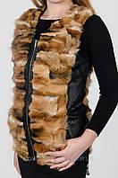 Женский  жилет меховой из лисы.