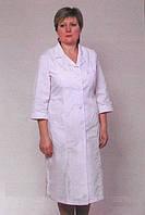 Классический белый медицинский халат больших размеров