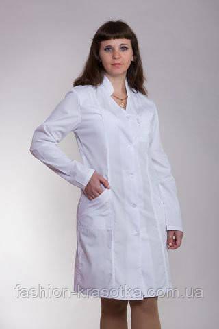 Батистовый медицинский халат на пуговицах. Опт и розница