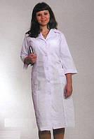 Классический женский медицинский халат белого цвета, больших размеров