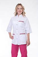 Медицинский женский костюм с вышитыми карманами. Опт и розница