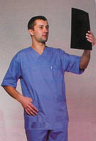 Качественный мужской медицинский костюм синего цвета