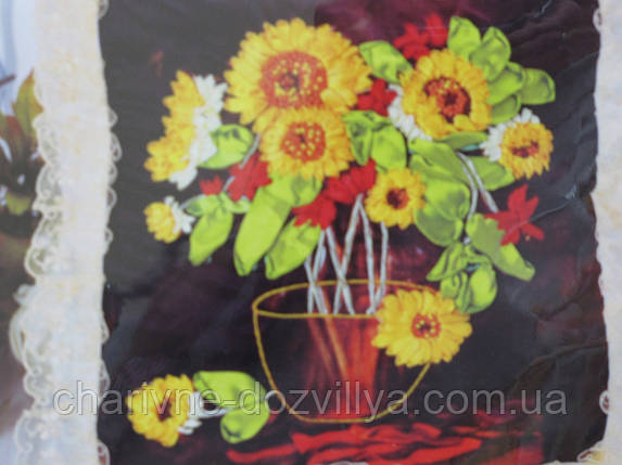 Набор для вышивания лентами Букет с посолнухами, фото 2