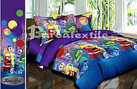 Детский комплект постельного белья 3Д полуторный, ранфорс 100% хлопок. (арт.6692)