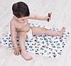 Пеленка двухсторонняя бамбук махра + непромокаемая дышащая мембрана + хлопковая фланель, фото 3