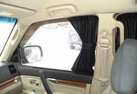 Шторки автомобильные Fiat Doblo 2010 д.б. серые