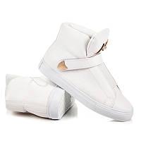 Спортивные высокие женские белые кроссовки