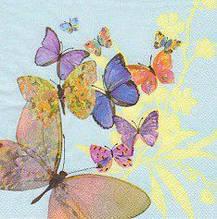 Салфетки декупажные с бабочками 2910