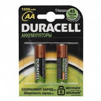 Элемент питания Duracell акум R06 1300mAh (шт.)