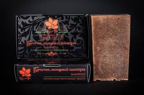 Горчично-Солодовое Мыло - Шампунь в коробке, 80г