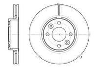Передние тормозные диски Nissan Tiida, Note, Micra, Dacia Logan, Renault Clio