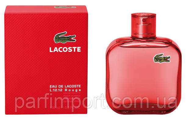 Lacoste 12.12 Rouge EDT 100 ml туалетна вода чоловіча (оригінал оригінал Франція)