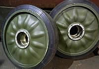 Обрезинивание массивных шин (катков опорных МТ-ЛБ и др.)