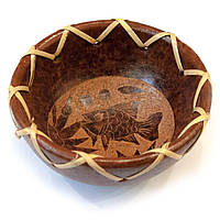 Тарелка деревянная Рыба