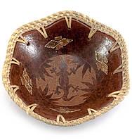 Тарелка из дерева Саламандра