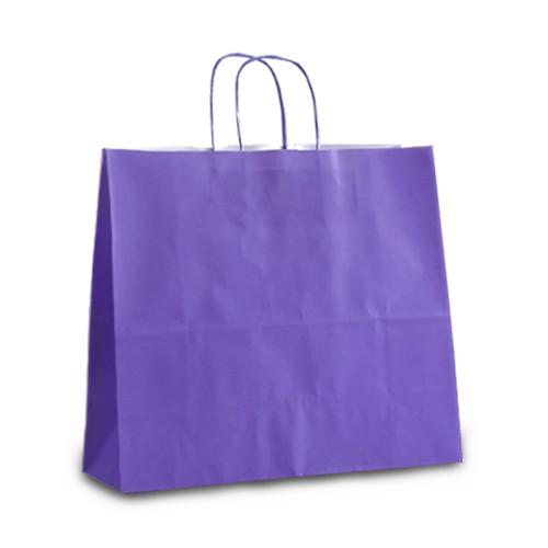 Пакеты 32x13x28 фиолетовые с витыми ручками