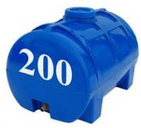 Емкость горизонтальная круглая Евро Пласт 200 литров