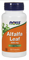Люцерна экстракт, Now Foods, Alfalfa Leaf, 500mg, 100 vcaps