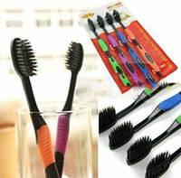 Бамбуковые зубные щетки с угольным напылением NANO Dental Care 4 штуки в наборе 4 шт в наборе