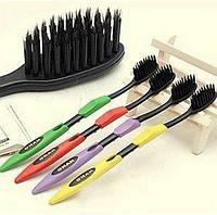 Бамбуковые зубные щетки с угольным напылением NANO Dental Care 4 штуки в наборе 4 шт в наборе , фото 1