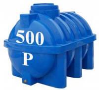 Емкость горизонтальная круглая Евро Пласт 500 литров (с двойной стенкой)