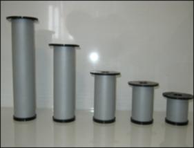 Ножка для мебели, опора для мебели H80 мм D50 мм, Алюминий матовый