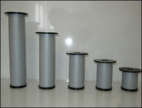 Ножка для мебели, опора для мебели H100 мм D50 мм, Алюминий матовый