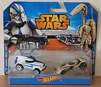 "Хот Вилс ""Звёздные воины"" набор машинок 2 шт Оригинал / Hot Wheels Star Wars Character Car 2-Pack"
