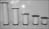 Ножка для мебели, опора для мебели H80 мм D50 мм, белый глянец