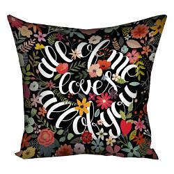 Декоративная подушка с цветочным принтом 50*50 см