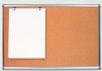 Пробковая доска для объявлений в пластиковой раме (эконом) 65х100 см
